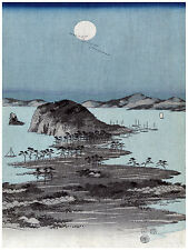 1457 Moonlight Asian wall Art Decoration POSTER.Graphics to decorate home office