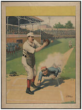 1870 Baseball Sport wall Art Decoration POSTER.Graphics to decorate home office.