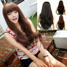 Heat Resistant Ladies Long Curly Wavy Cosplay Full Hair Wigs Women Costume Party