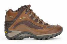 Merrell Womens Mid Boots Siren Waterproof Leather Brown J16038