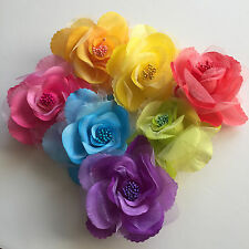 Rose Flower Ponytail Holder & Hair Clip & Brooch 3 in 1