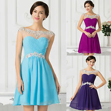 2016 SALE Short Cocktail Evening Dress Bridesmaid Wedding Prom Ball Gowns Formal