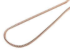 10K Rose Gold 1.8MM Wide Closed Franco Box Link From 20-38 Inch Chain Necklace