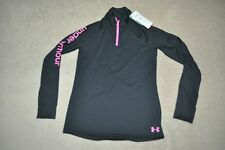 Under Armour Girls UA Tech 1/4 Zip Pullover Black NWT