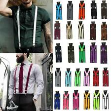 Womens Mens  Suspenders Y-Shape Clip-on Elastic Adjustable Braces Solid  Unisex