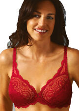 New Playtex Flower Lace Womens Underwired Full Cup Bra Raspberry Free UK P&P