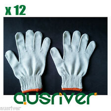 12 Pairs Cotton Knitted String Knit Veil Factory Labour Work Protective Gloves