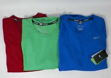 NIKE MEN'S DRI-FIT MILER UV REFLECTIVE RUNNING CREW NECK TOP SHIRT #543499-NWT
