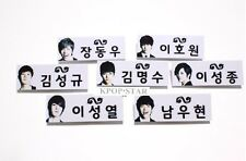 INFINITE Photo Name Tag Badge KPOP WooHyun SungJong Hoya DongWoo SungYeol L