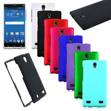 Hybrid Rubberised Frosted Skin Snap on Cover Hard Case For ZTE ZMAX 2 Z958