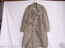 KHAKI COLD WEATHER MEN'S TRENCH COAT JACKET W/ LINER GENUINE U.S. MILITARY ISSUE