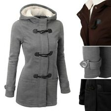 Fashion Women Warm Coat Long Wool Jacket Coat Hoodies Outerwear Winter Coat S-XL