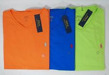 POLO RALPH LAUREN MENS COTTON V-NECK T-SHIRT SOLID TEE  SIZE L OR XL  -NWT