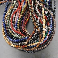"8mm Wholesale Lot Natural Gemstone Round Spacer Loose Beads 15.5"" Free Shipping"