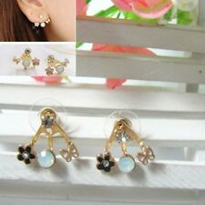 Delicate Lovely Exquisite Crystal Rhinestone Love Letter Ear Stud Heart Earring