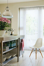 Made to Measure Complete Vertical Blind max width 3.3m Willow White or Cream