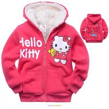 Hello Kitty Jacket Coat Girls Toddler Fleece Fully Lined Outerwear Hooded Pink
