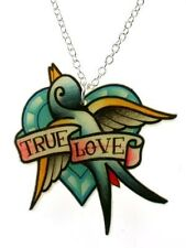 New Punky Pins True Love Swallow Tattoo Necklace