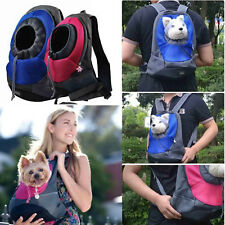 Pet Dog Front Carrier Doggie Puppy Mesh Backpack Head Out Tote Bag S L