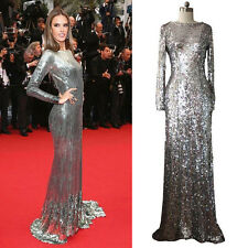 Beautifly New Long sleeves sequins Party dresses Formal evening Prom ball gowns
