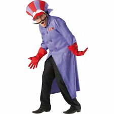Deluxe Dick Dastardly Wacky Races 80s Fancy Dress Cartoon Mens Adult Costume
