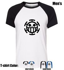 Anime One Piece Trafalgar Law Pattern Mens Boy's Cotton T Shirt Graphic Tee Tops