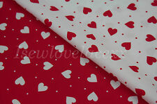 100% Cotton Hearts & Dots/Spots Fabric~Valentines~Love~FQ~1/2 Metre~Craft~Dress!