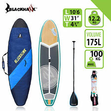 "BLACKHAWK 10'6"" BONDIHAWK ALL ROUNDER SUP STAND UP BOARD BAG CARBON PADDLE ROPE"