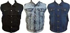 Mens Premium Denim Jean Vest Jacket