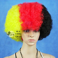 Soccer Football Fans Games Supplies Afro Wig Fancy Dress Costume Cosplay