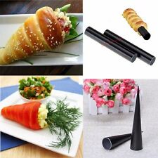 HOT! Non-Stick Dessert Cake Cannoli Cone Round Form Tubes Bread Baking Tool Mold
