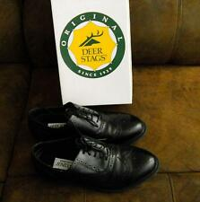 MENS SZ 8M BLACK WINGTIP DRESS SHOES-DEER STAG-VERY GENTLY USED