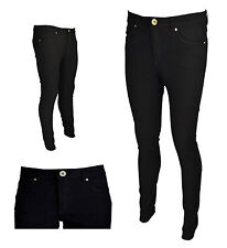EX-H&M NEW LADIES WOMENS SKINNY STRETCHY JEANS CHINO TROUSER BLACK SIZE 8-18-