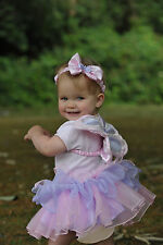 BABY TODDLER GIRLS CUTE PINK FAIRY PRINCESS TUTU PARTY COSTUME OUTFIT AGE 1,2,3