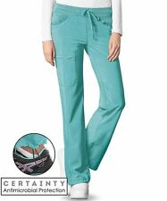 Infinity Antimicrobial Turquiose Low-Rise Straight Leg Cargo Pant Sz XS-XL NWT