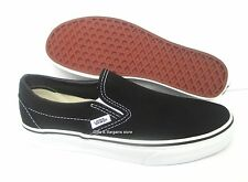 Vans Black White Classic Slip On Mens Womens Canvas Shoes All Sizes 4.5-13