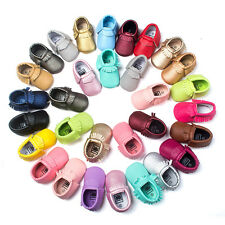 2016 Baby Tassel Suede Leather Shoes Infant Boy Girl Toddler Moccasin Shoes