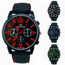 HOT Fashion Cool Mens Military Wrist Watch Stainless Steel Leather Sport Watches