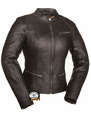 First Manufacturing Ladies Scooter Leather Jacket FIL108CCBZ