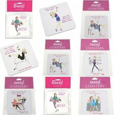 Sassy Girls Drinks Coaster Funny Novelty Gift Various Designs and  Slogans Wine
