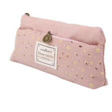 Floral Canvas Pencil Pen Case Cosmetic Makeup Coin Pouch Zipper Bag