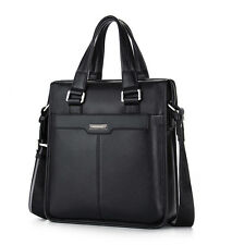 Men Genuine Leather Handbag Briefcase Laptop Shoulder Bag Messenger Bag Carrying