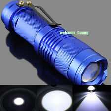 10X UltraFire flashlight CREE 300LM LED Mini Torch Lamp Light camp blue AA 14500