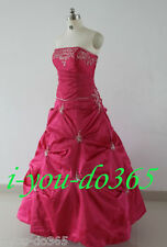 New Stock Hot Pink Evening Wedding Bridesmaids Dress Size 6 8 10 12 14 16