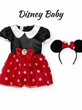 6M - 5T  DISNEY MINNIE MOUSE COSTUME EARS SET DRESS UP HALLOWEEN COSTUME
