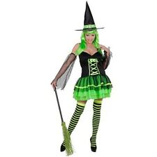 Witch sexy dress Green Costume Witch Sorceress Halloween Horror Carnival
