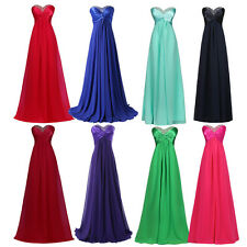Sweetheart Long Bridesmaid Maxi Pageant Evening Formal Prom Party Gown Dresses