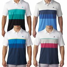 Adidas Golf 2016 Climacool® Engineered Striped Mens Golf Funky Polo Shirt