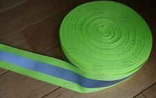 Reflective Tape 2-inch Sew-On lime yellow fabric trim