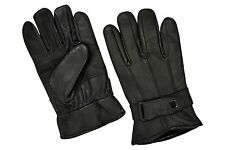 MENS LAMBSKIN LEATHER DRESSING DRIVING BIKER WINTER WARM GLOVES ALL SIZES #1095